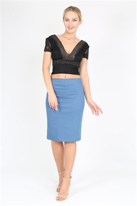 Lycra Denim Slim Fit Tango Skirt